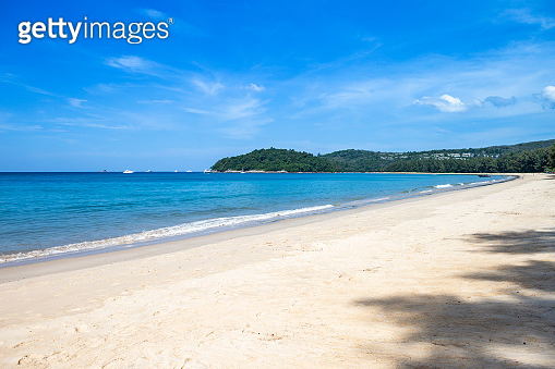Beautiful beach on Phuket island in South of Thailand