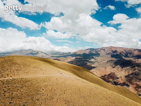 Aerial view on the mountains of Argentina