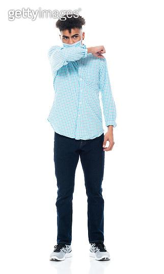 African-american ethnicity teenage boys wearing pants