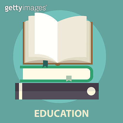 Pile of books . Education and reading concept