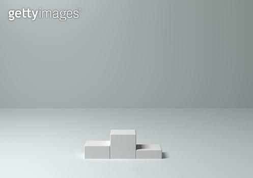 Winner podium abstract concept