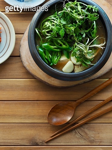 Korean food Shepherd's purse Soybean Paste Soup
