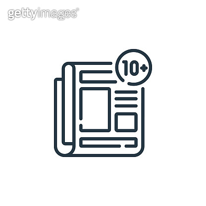 news vector icon isolated on white background. Outline, thin line news icon for website design and mobile, app development. Thin line news outline icon vector illustration.