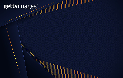 Abstract luxury background with geometric shapes and gold lines.