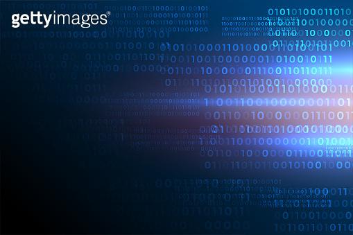 futuristic binary code numbers digital data  background
