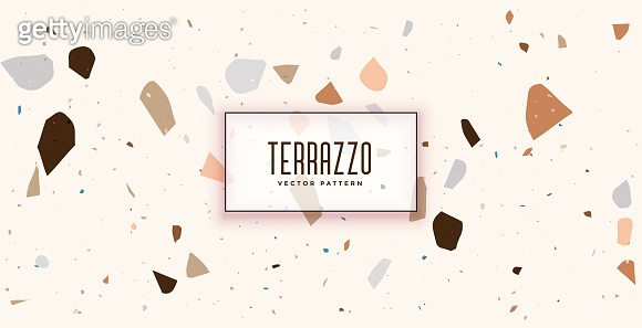 white terrazzo shape pattern texture background design