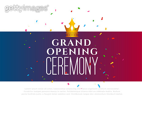 grand opening ceremony celebration template