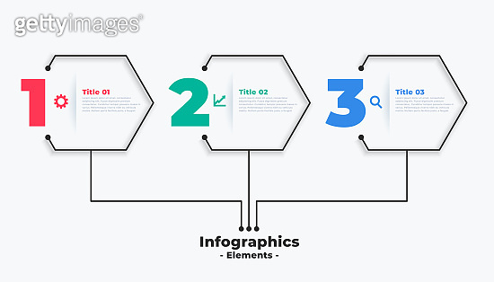 three steps modern business infographic template vector design illustration