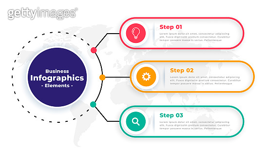 tree steps modern business infographic template vector design illustration