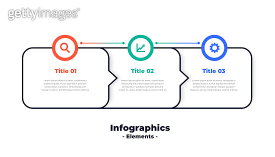 three steps modern directional infographic template  vector design illustration