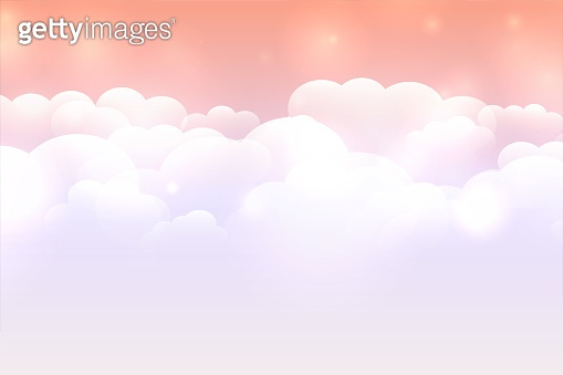 dreamy cloud background with pastel color sky design vector illustration
