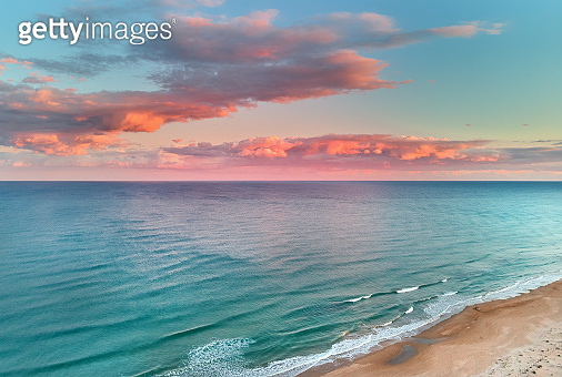 Picturesque scenery aerial drone point view landscape