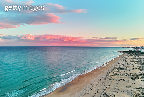 Picturesque scenery aerial drone view landscape
