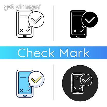 Smartphone service check icon