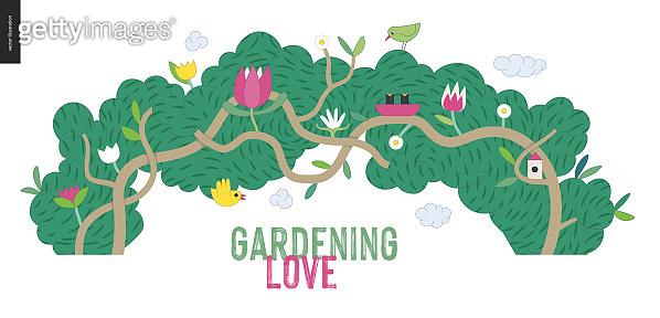 Gardening people, spring