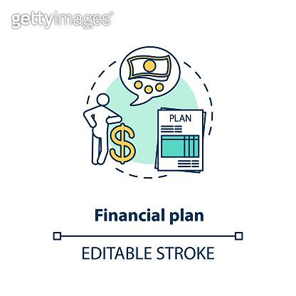 Financial plan concept icon