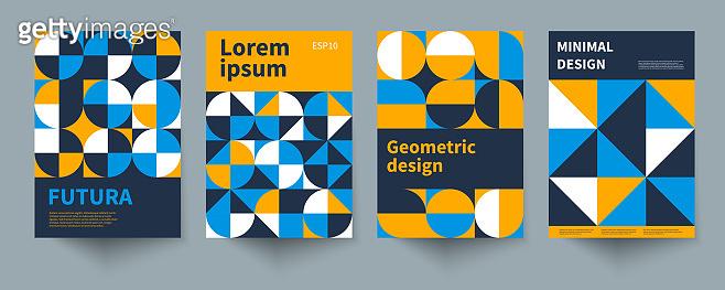 Minimal swiss geometric posters