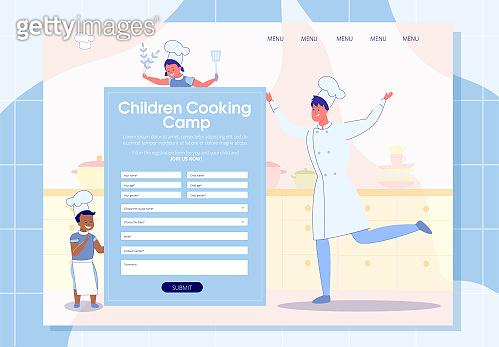 Children Cooking Camp Online Registration Banner.