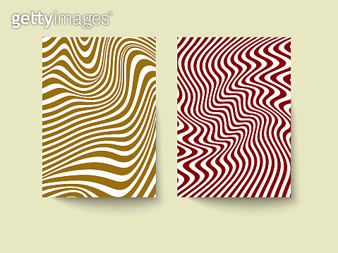 Template for booklet, flyer, brochure or poster in optical illusion style