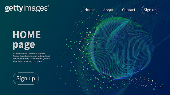 Homepage template. Futura blue landing page