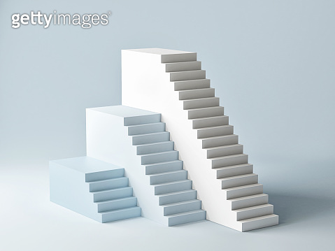Mock up podium for product presentation, abstract scene blue background