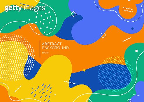 Abstract background trendy colorful splash cartoon overlay spot pattern