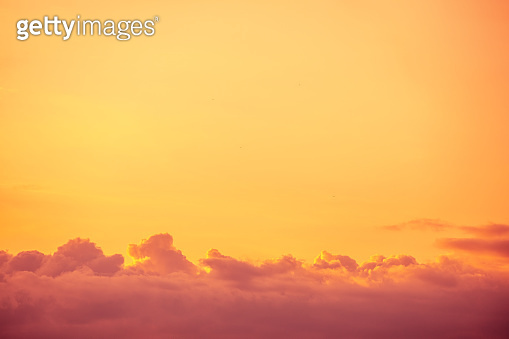 Orange sunset sky. Sky texture. abstract nature background