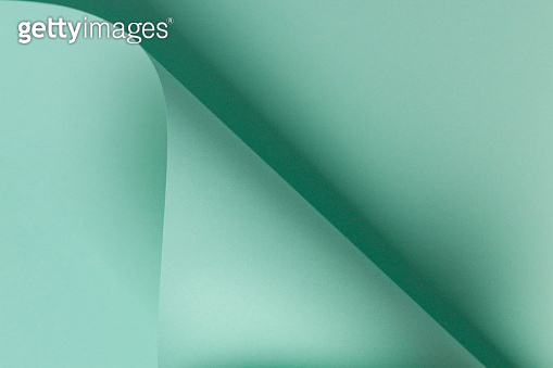 Abstract geometric shape light green color paper background