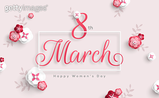 Womens Day square frame