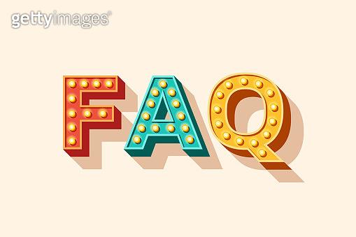 FAQ vector lettering