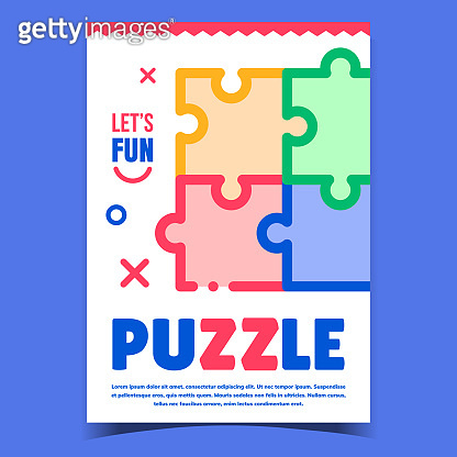 Puzzle Jigsaw Creative Advertising Banner Vector