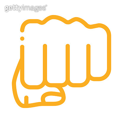 Boxer Fist Punch Icon Vector Outline Illustration