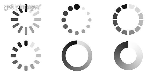 Loading icon set. Load sign. Vector illustration