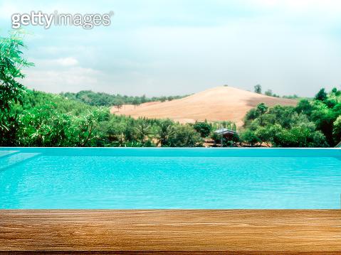Swimming pool background minimal style.