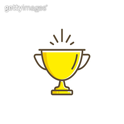 Trophy Cup icon, Vector isolated flat design illustration