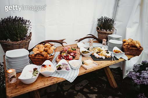photo of food on a party table