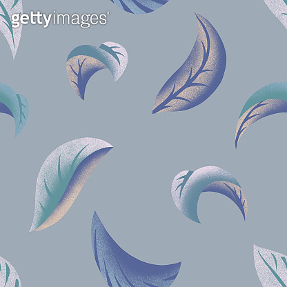 Botanical seamless pattern made of leaf. Leaves background. Nature ornament