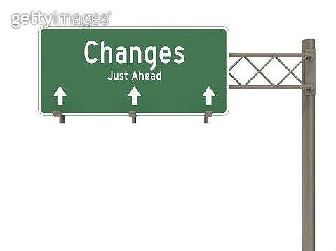 Changes ahead highway sign