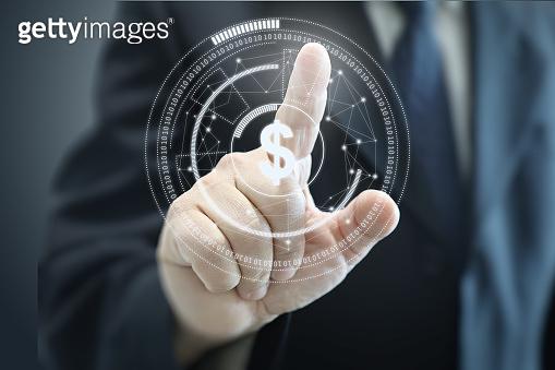 Finance technology fintech e-banking business connection