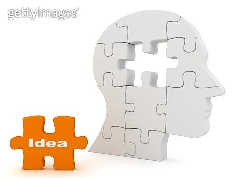 Thinking idea solution decision brain