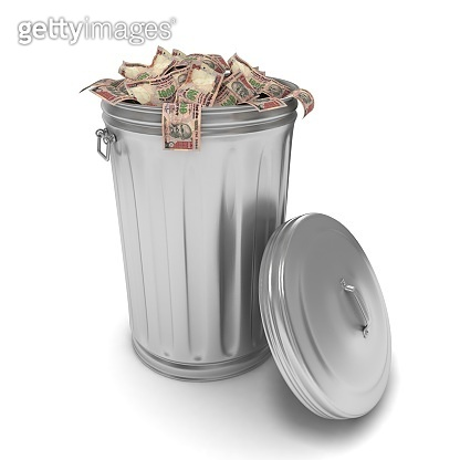 Indian rupee money finance crisis garbage