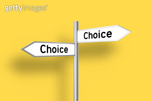 Choice decision direction sign