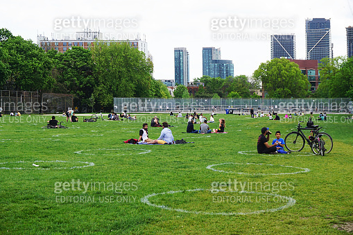 Trinity-Bellwoods park of Toronto during pandemic
