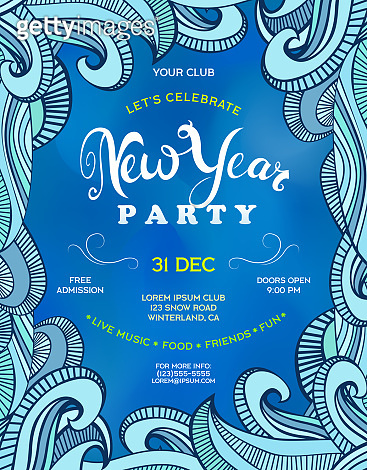 Poster for New Year party.