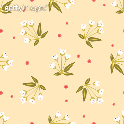 Floral pattern on yellow background