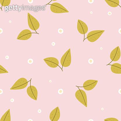 Floral pattern on pink background