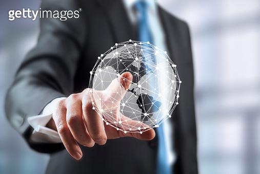Global network communication concept