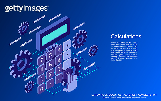 Cartoon calculator vector concept
