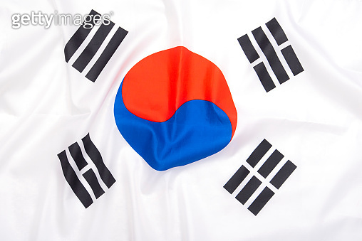 Natural fabric flag of South Korea