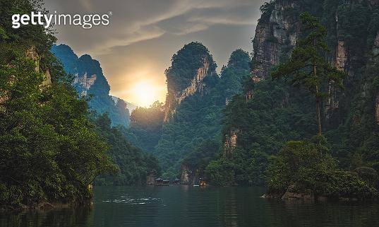 Stunning karst landscape of Baofeng Lake
